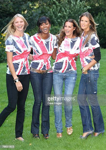 Models Jodie Kidd Naomi Campbell Yasmin Le Bon and Elle Macpherson attend a photocall to promote 'Fashion For Relief' at the Rotary Club on September...