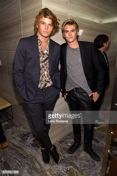 Models Jordan Barrett and Presley Gerber attend The Daily Front Row's 4th Annual Fashion Media Awards at Park Hyatt New York on September 8, 2016 in...