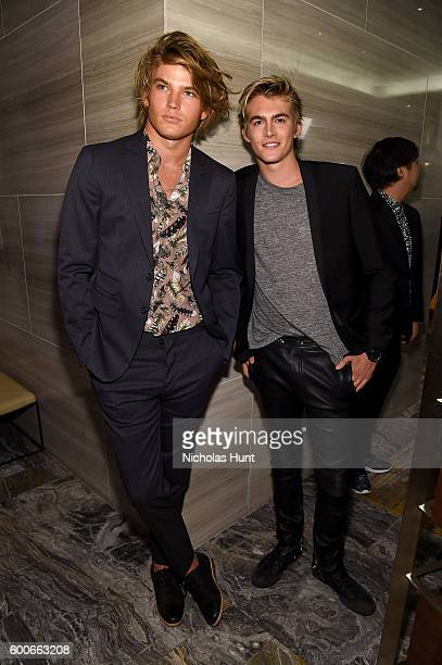 Models Jordan Barrett and Presley Gerber attend The Daily Front Row's 4th Annual Fashion Media Awards at Park Hyatt New York on September 8 2016 in...