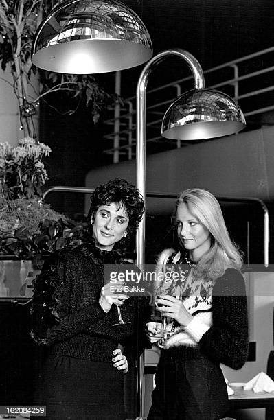 Joyce left Collage Talent Management and Beth Vannoy Talent Agency / The Broadway Grill Anne Rubin's jeweldecorated black sweater left $470 and black...