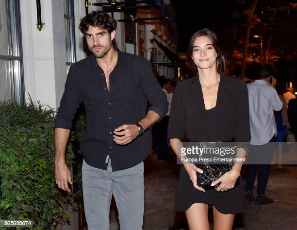 Models Juan Betancourt and Rocio Crusset are seen on September 21 2017 in Madrid Spain