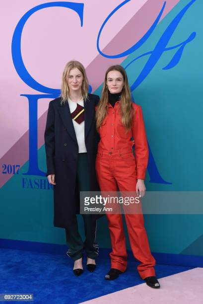 Models Julia Nobis and Lulu attend the 2017 CFDA Fashion Awards at Hammerstein Ballroom on June 5 2017 in New York City