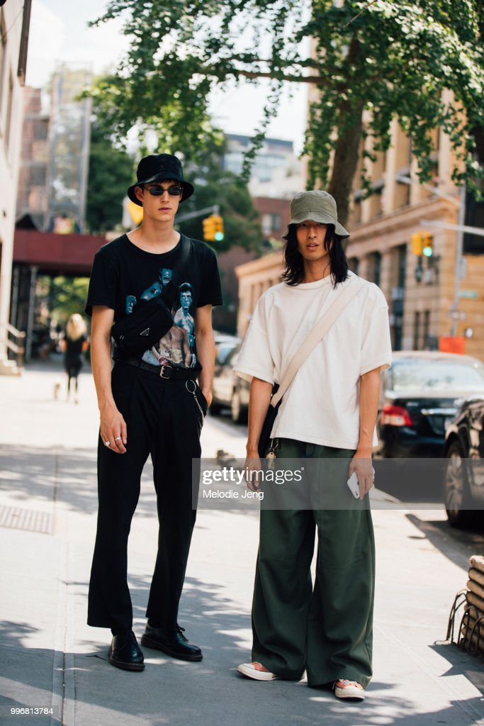 fb097fa6632 Street Style - July 2018 Men s Fashion Week   News Photo