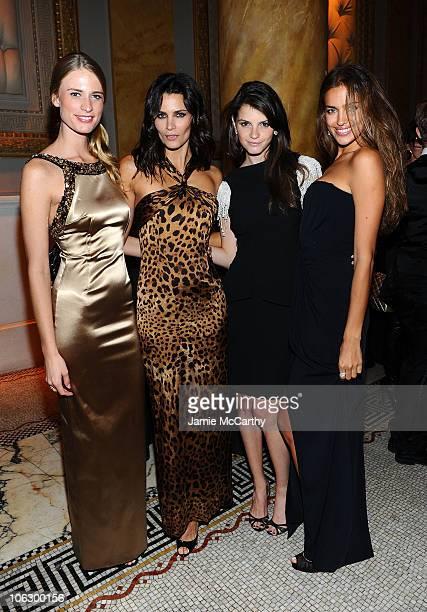 Models Julie Henderson Fernanda Motta Jeisa Chiminazzo and Irina Shayk attend the 3rd annual fundraiser for the ONEXONE Foundation at Capitale on...