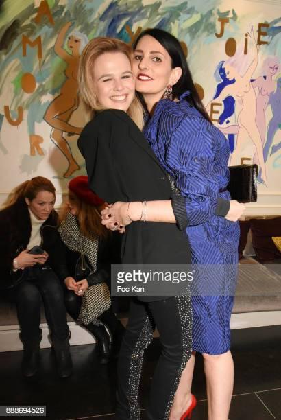 Models Julie Jardon and Sylvie Ortega Munos attend Ken Okada Fashion Show at Hotel W on December 8 2017 in Paris France