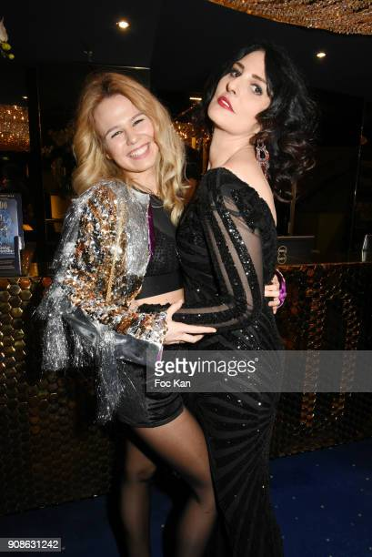 Models Julie Jardon and Sylvie Ortega Munoz attend the Top Model Belgium Awards 2018 Ceremony at the Lido on January 21 2018 in Paris France