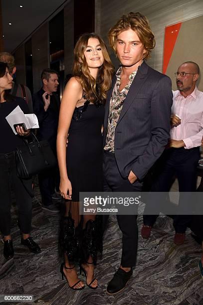 Models Kaia Gerber and Jordan Barrett attend The Daily Front Row's 4th Annual Fashion Media Awards at Park Hyatt New York on September 8 2016 in New...