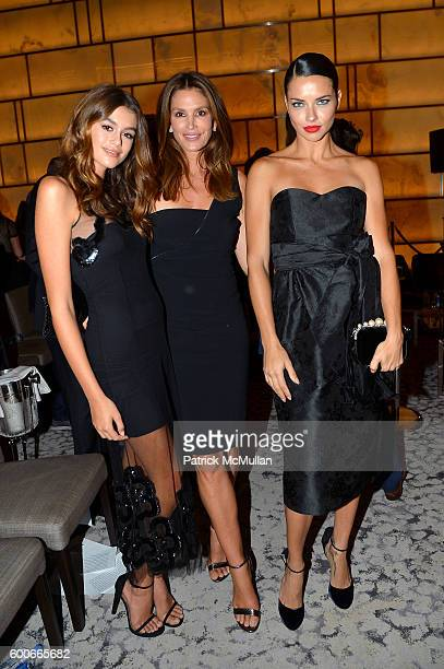 Models Kaia Gerber Cindy Crawford and Adriana Lima attend the The Daily Front Row's 4th Annual Fashion Media Awards at Park Hyatt New York on...