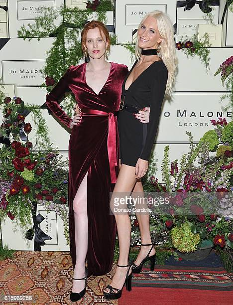 Models Karen Elson and Poppy Delevingne attends the Jo Malone London Girl dinner at Chateau Marmont on October 20 2016 in Los Angeles California