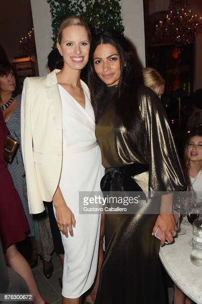 Models Karolina Kurkova and Camila Alves attend the private opening celebration of RH West Palm on November 18 2017 in West Palm Beach Florida
