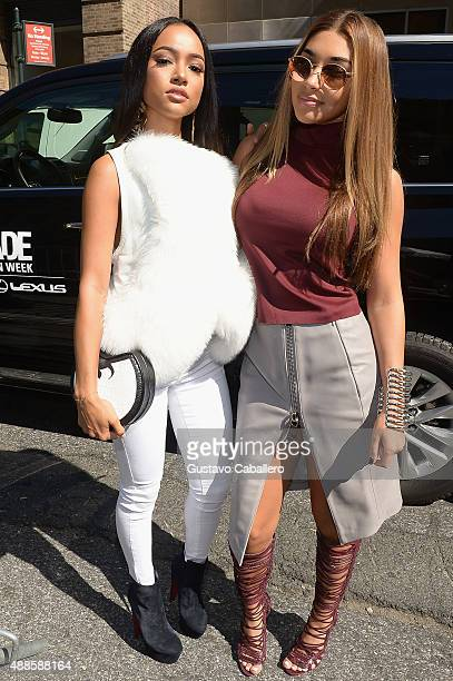 Models Karrueche Tran and Chantel Jeffries Seen Around Skylight at Moynihan Station Spring 2016 New York Fashion Week The Shows Day 7 on September 16...