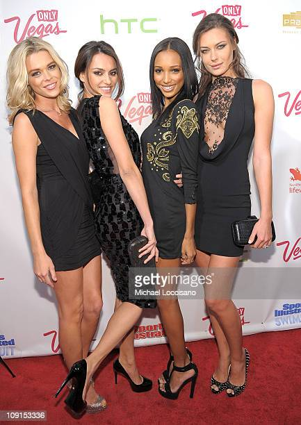 Models Kasia Gogolkiewicz Catrinel Marlon Jasmine Tookes and Elena Baguci attend the SI Swimsuit Launch Party hosted By Pranna at Pranna Restaurant...