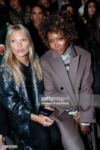 Models Kate Moss and Naomi Campbell attend the Dior Homme Menswear Fall/Winter 20192020 show as part of Paris Fashion Week on January 18 2019 in...