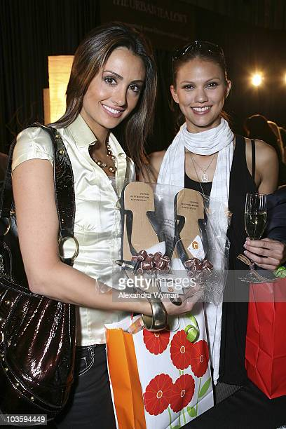 Models Katie Cleary and Megan Abrigo attend The Retreat Premier Gift Lounge At Super Bowl XLII held at Galleria Corporate Centre on February 1 2008...