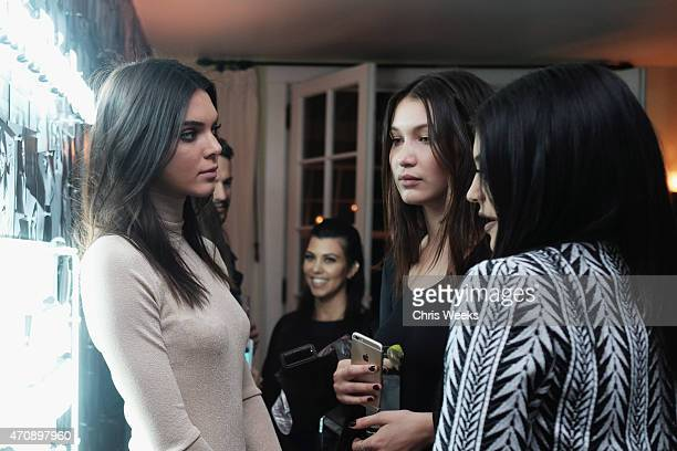 Models Kendall Jenner Bella Hadid and tv personality Kylie Jenner attend Opening Ceremony and Calvin Klein Jeans' celebration launch of the...
