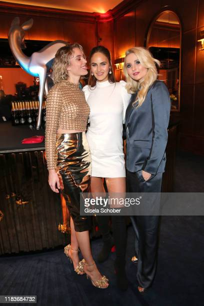 Models Kim Hnizdo Elena Carriere Anna Hiltrop during the Tribute to Bambi after show party at Casino BadenBaden on November 20 2019 in BadenBaden...