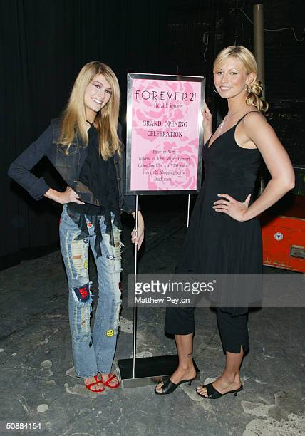 Models Lacey Young and Niki Taylor host Forever 21 Open Model Casting Call at Hammerstein Ballroom May 21 2004 in New York City