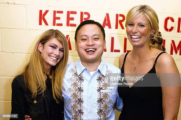 Models Lacey Young and Niki Taylor pose with former American Idol contestant William Hung at the Forever 21 Open Model Casting Call at Hammerstein...