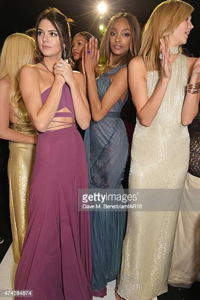 Models Lara Stone, Kendall Jenner, Joan Smalls, Jourdan Dunn and Karlie Kloss attend amfAR's 22nd Cinema Against AIDS Gala, Presented By Bold Films...
