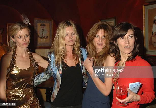 Models Laura Bailey Kate Moss Jemima Khan and designer Bella Freud attend an exclusive dinner and auction hosted by Freud to benefit the HOPING...