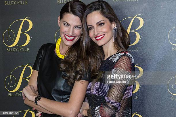 Models Laura Sanchez and Ariadne Artiles attend 'Billion Club' opening party on December 4 2014 in Madrid Spain