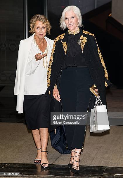 Models Lauren Hutton and Maye Musk are seen leaving The Daily Front Row's 4th Annual Fashion Media Awards at Park Hyatt New York on September 8 2016...
