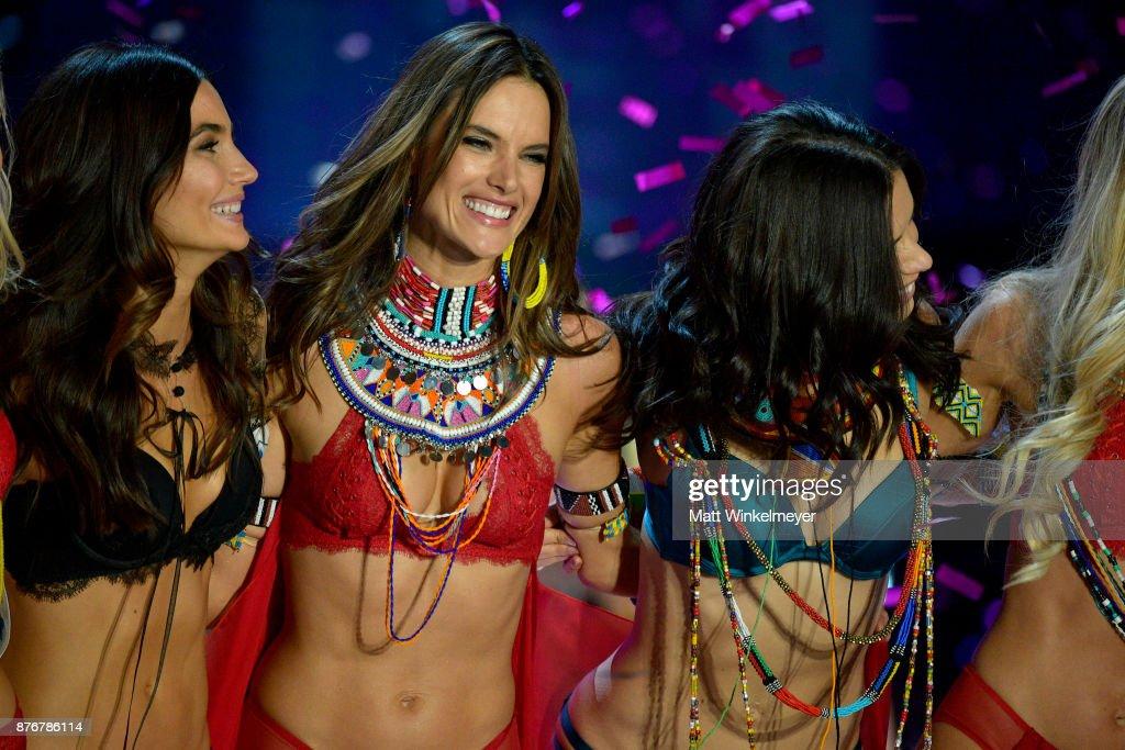 Models Lily Aldridge, Alessandra Ambrosio, and Adriana Lima