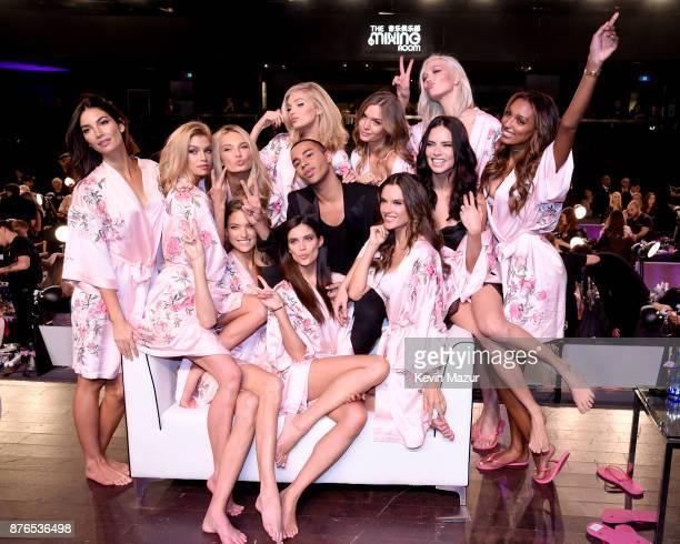 Models Lily Aldridge Stella Maxwell Romee Strijd Martha Hunt Elsa Hosk Olivier Rousteing Sara Sampaio Josephine Skriver Alessandra Ambrosio Adriana...