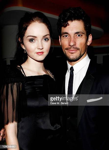 Models Lily Cole and David Gandy celebrate at The Weinstein Company and Momentum Pictures' post-BAFTA party held at W London-Leicester Square on...