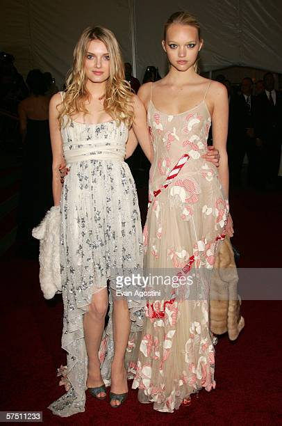 Models Lily Donaldson and Gemma Ward attend the Metropolitan Museum of Art Costume Institute Benefit Gala Anglomania at the Metropolitan Museum of...