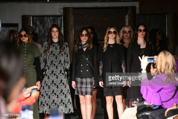 Models line up at Negris LeBrum Fall Winter 201920 at The Flat NYC on February 10 2019 in New York City