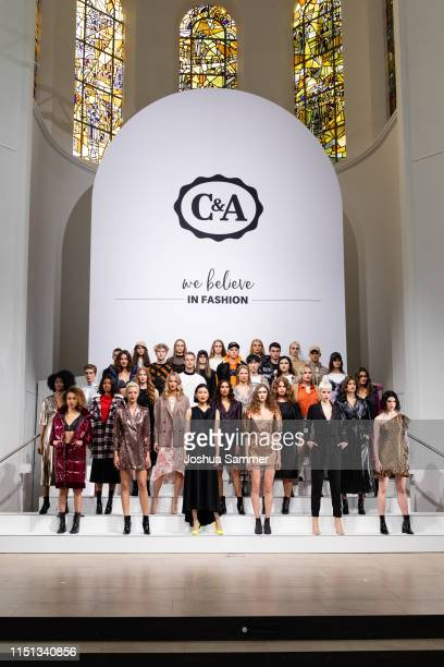 Models line up during the CA collection room event on May 23 2019 in Essen Germany