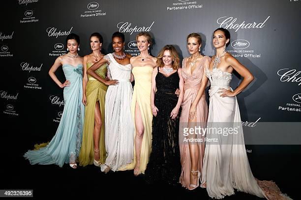 Models Liu Wen Alessandra Ambrosio Arlenis Sosa Eva Herzigova Caroline Scheufele models Petra Nemcova and Adriana Lima arrive to the Chopard...