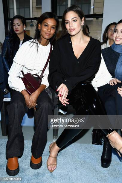 Models Liya Kebede and Ashley Graham attend the 31 Phillip Lim Fashion Show during New York Fashion Week at Center 415 on February 11 2019 in New...