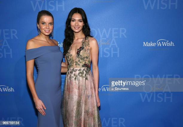Models Louisa Warwick and Jessica Barta Lam attend the 35th Anniversary MakeAWish Metro New York Gala at Cipriani Wall Street on June 7 2018 in New...