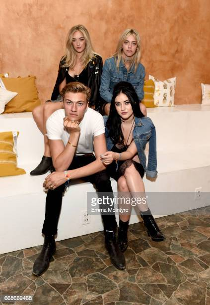 Models Lucky Blue Smith Daisy Smith Pyper Smith and Starlie Smith attend HM Loves Coachella Tent during day 1 of the Coachella Valley Music Arts...