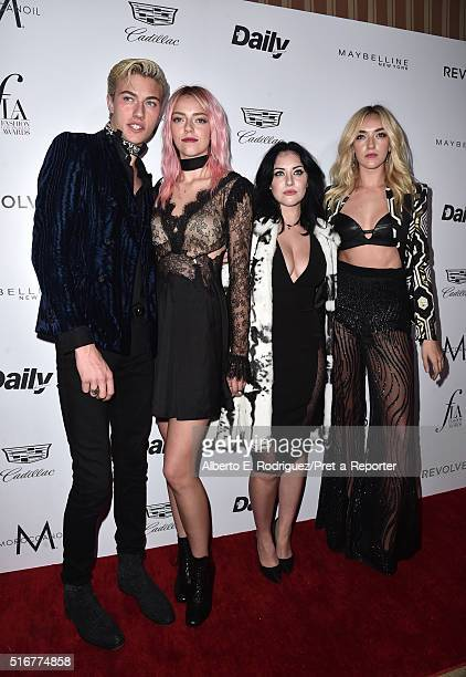 """Models Lucky Blue Smith, Pyper America Smith, Starlie Smith and Daisy Clementine Smith attend the Daily Front Row """"Fashion Los Angeles Awards"""" at..."""