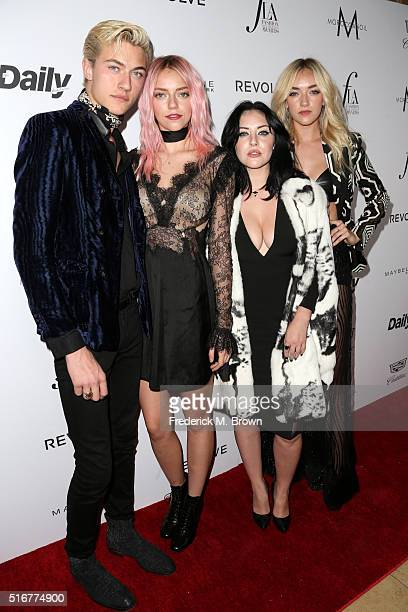 Models Lucky Blue Smith Pyper America Smith Starlie Smith and Daisy Clementine Smith attend the Daily Front Row Fashion Los Angeles Awards at Sunset...
