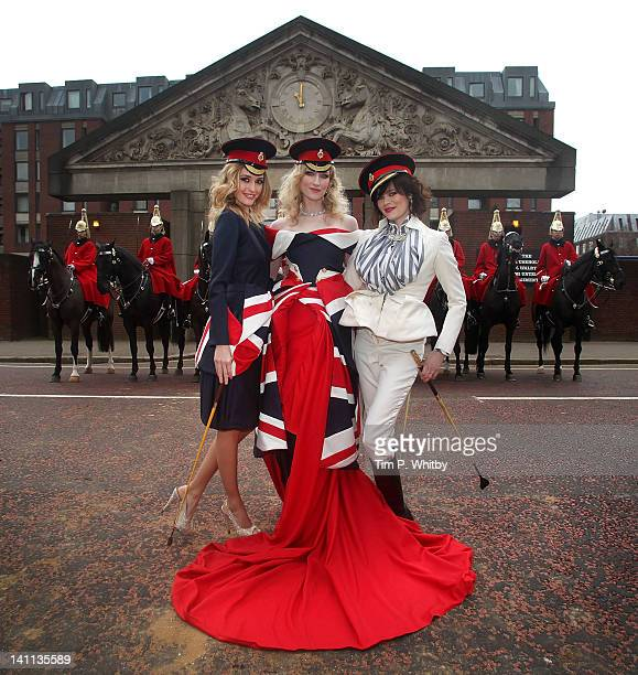 Models Lyza Onysko Jade Parfitt and Jasmine Guinness launch Fashion for the Brave a high profile fundraising event for the Household Calvary...