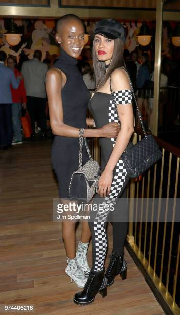 Models Madisin Rian and Gemmy Quelliz attend the screening after party for 'The Year Of Spectacular Men' hosted by MarVista Entertainment and...