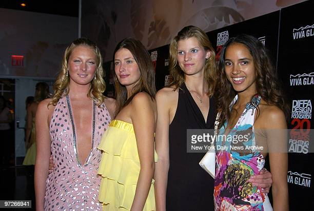 Models Maggie Rizer, Rhea Durham, Madelyn Bloomberg and Angela Marie get together at the Copacabana for MAC Viva Glam Casino Havana, benefiting the...