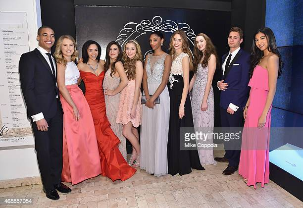 f2e2d43bedd Models Malik Lindo and Sailor Brinkley Cook and models attend Lord Taylor s  Flagship Prom Fashion Show