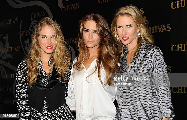 Models Martina Klein Clara Alonso and Judit Masco attend the 'Smoking Chivas Code' fashion show at the Chivas Studio on October 14 2009 in Madrid...