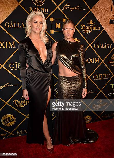 Models Maryse Oullet and Barbie Banks attends the Maxim Hot 100 Party at the Hollywood Palladium on July 30 2016 in Los Angeles California