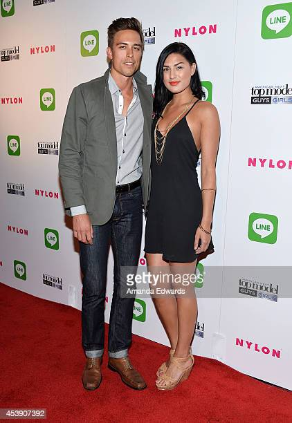 Models Mike Scocozza and Jiana Davis arrive at the America's Next Top Model Cycle 21 Premiere Party Presented By NYLON and LINE at SupperClub Los...