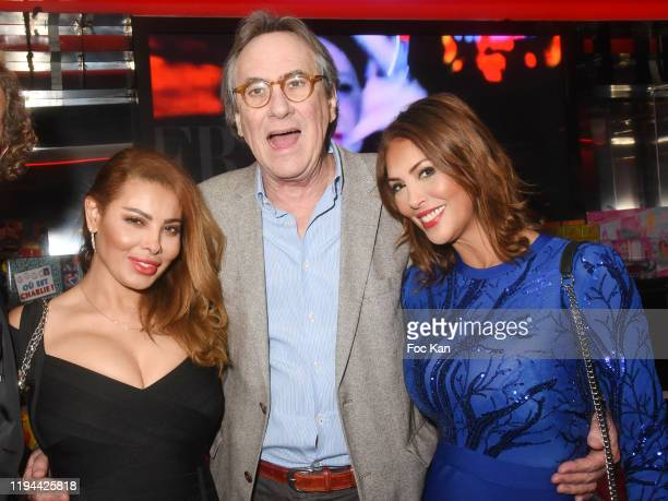 Models Miss Amal Maizou Singer Philippe Lavil and actress Yasmine Lafitte attend Hopital Necker Children XMas Party at VIP Room Theater on December...