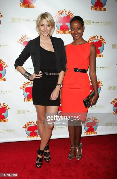 Models Model Lena Gercke and Sara Nuru attend Cocktails with a Cause benefitting Sophie's Voice Foundation at the Hearst Tower on September 14 2009...