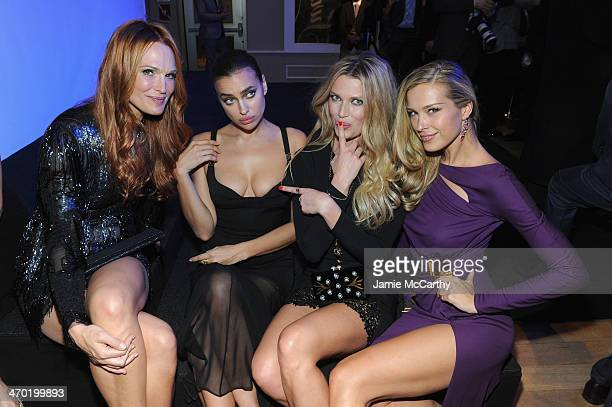 Models Molly Sims Irina Shayk Rachel Hunter and Petra Nemcova attend the Sports Illustrated Swimsuit 50 Years of Swim in NYC Celebration at the...