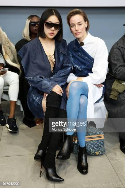Models Natasha Lau and Elliott Sailors attend the Gemma Hoi front row during New York Fashion Week The Shows at MercedesBenz Manhattan on February 11...