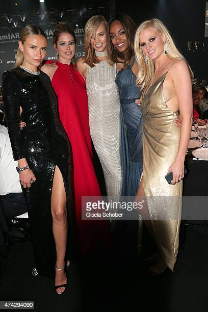 Models Natasha Poly Doutzen Kroes Karlie Kloss Jourdan Dunn and Lara Stone attend amfAR's 22nd Cinema Against AIDS Gala Presented By Bold Films And...